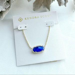 Kendra Scott Elisa gold blue necklace